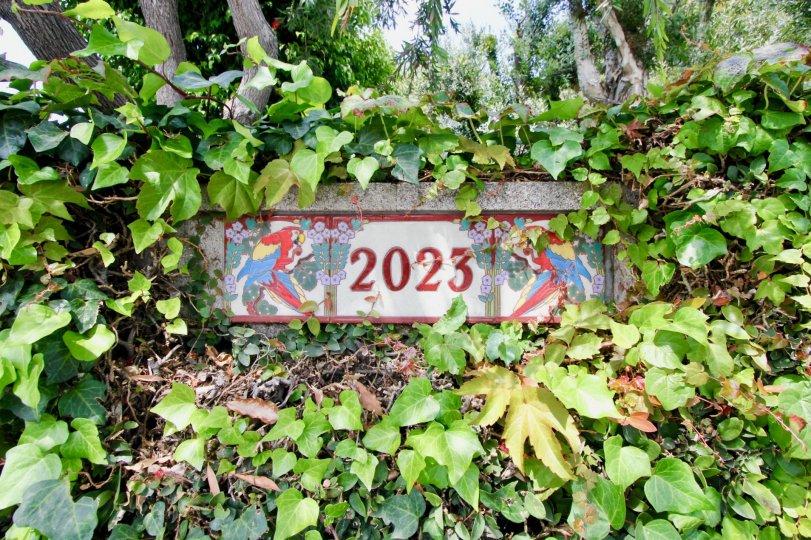 Signage to 2023 Las Casitas En Santa Monica, Santa Monica