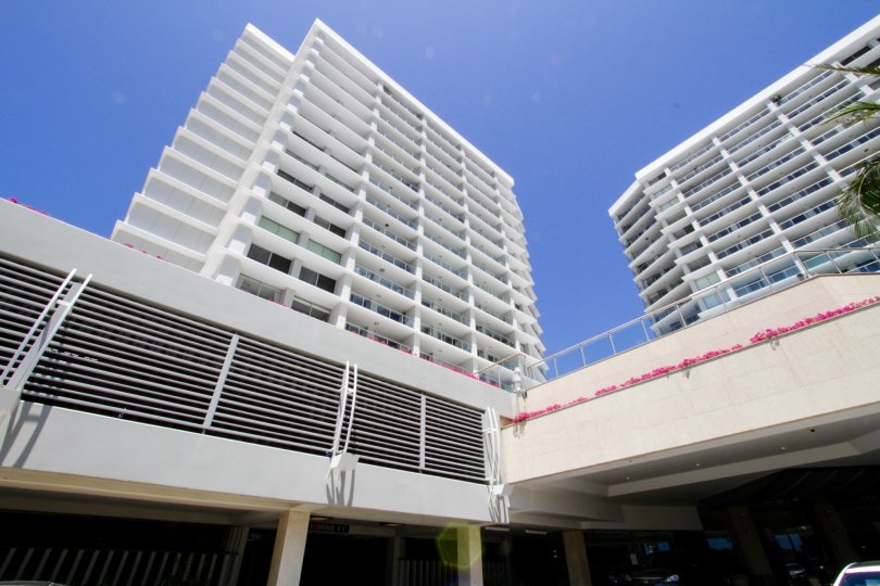 A view of the floors and units in Ocean Towers