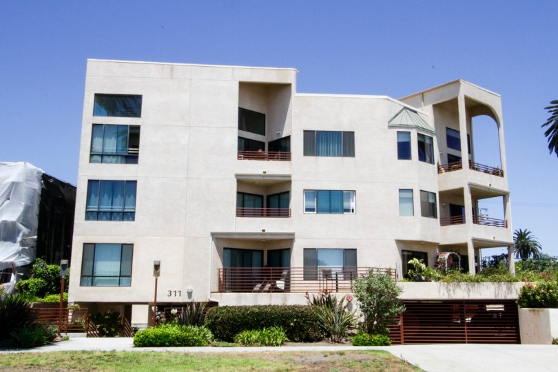 The balconies seen at Pacific Regency in Santa Monica