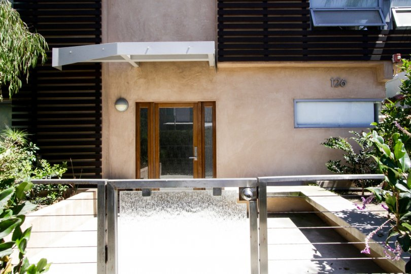 The entrance into Pacific Street Townhomes in Santa Monica