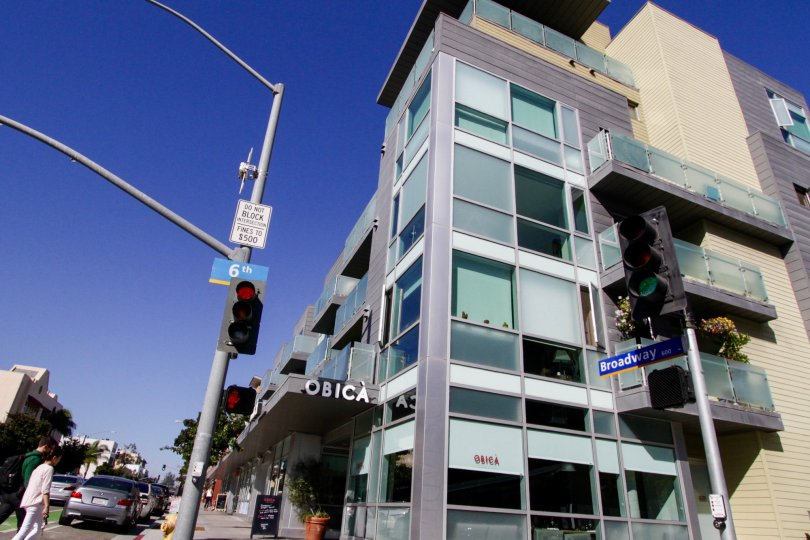 The Positano building in Santa Monica