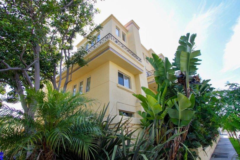 Majestic Yellow Palace in Schader Place, Santa Monica, California