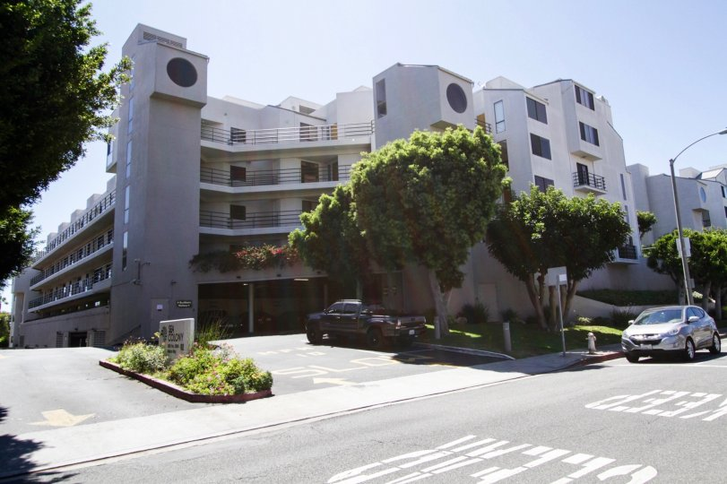 The road in front of Sea Colony II in Santa Monica