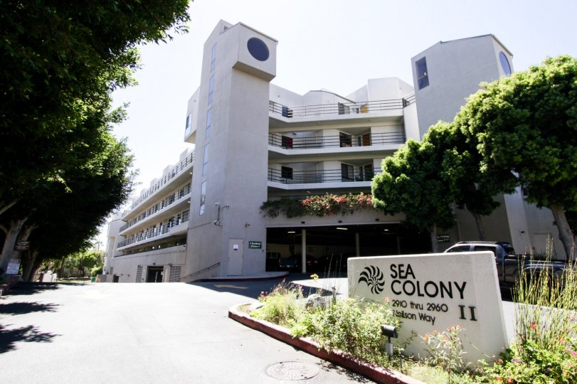 The sign in front of the Sea Colony II