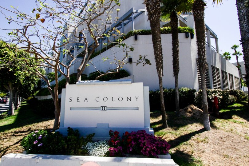 The sign in front of the Sea Colony III in Santa Monica