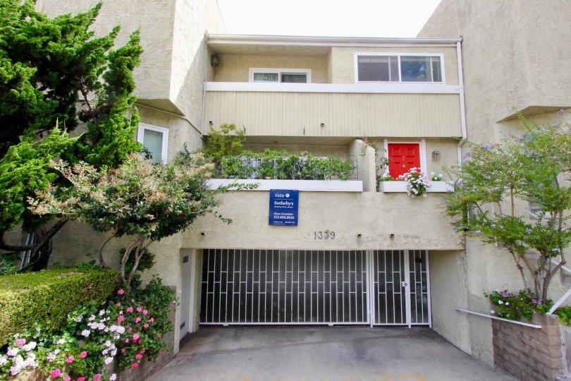 Entrance view of beautiful 1339 Sierra Vista, Santa Monica, California
