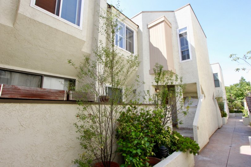 A sunny day at a valley of Stanford Townhomes' community in Santa Monica, CA