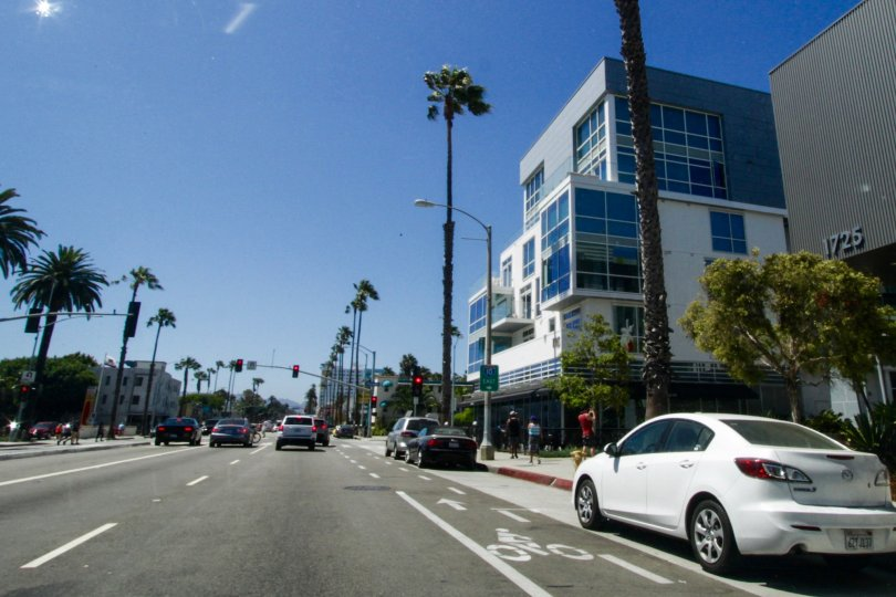 The road in front of The Waverly in Santa Monica