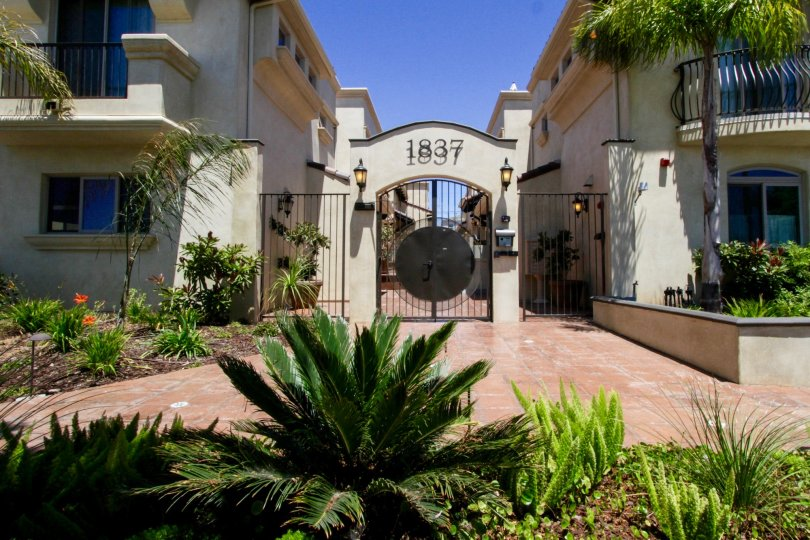 The entrance into Twelve Street Townhomes in Santa Monica