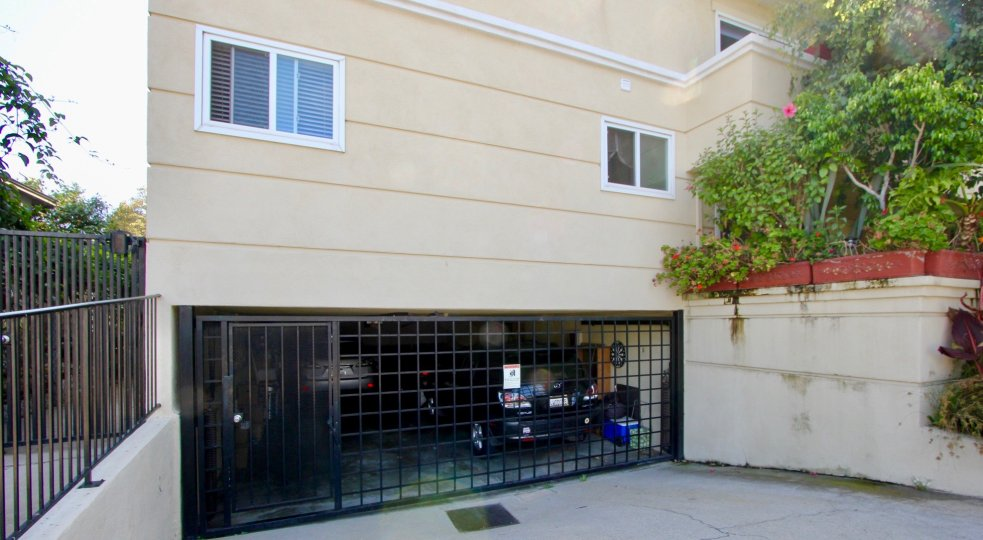 Garage gate for Yale St Condos in Santa Monica California