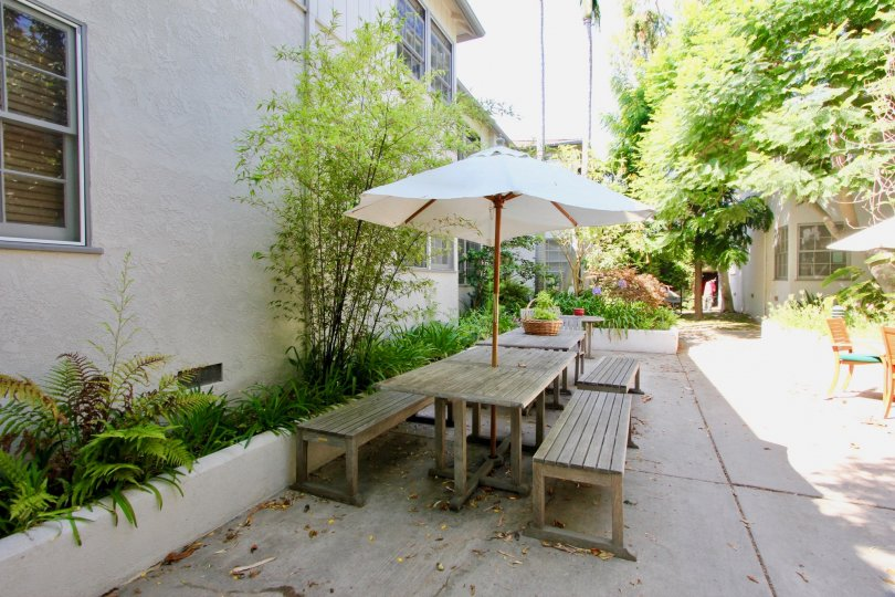 A sunny day at Yale Street's community in Santa Monica, CA
