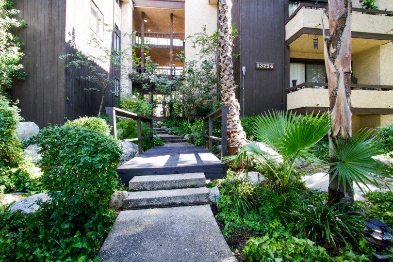 The sidewalk through 13214 Moorpark St