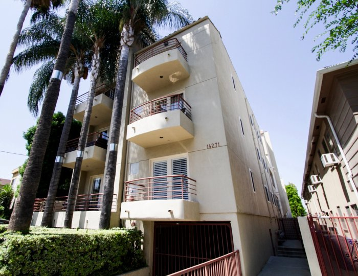 The balconies at 14271 Dickens St in Sherman Oaks