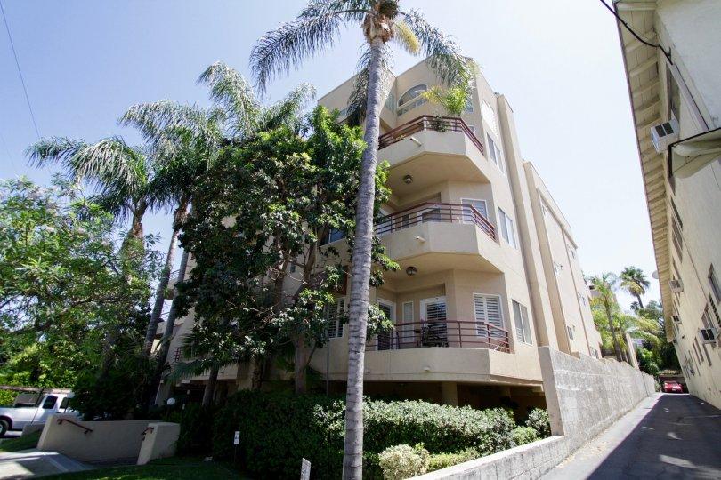 The balconies seen at 14290 Dickens St in Sherman Oaks
