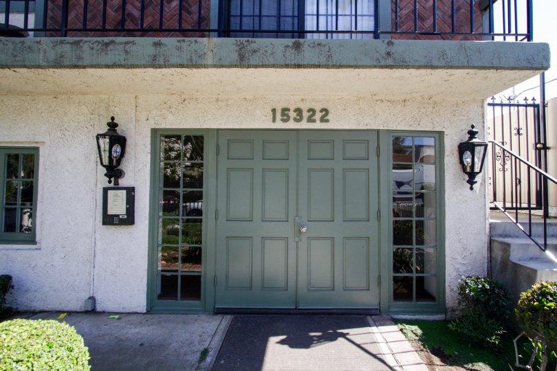 The entrance into 15322 Weddington St