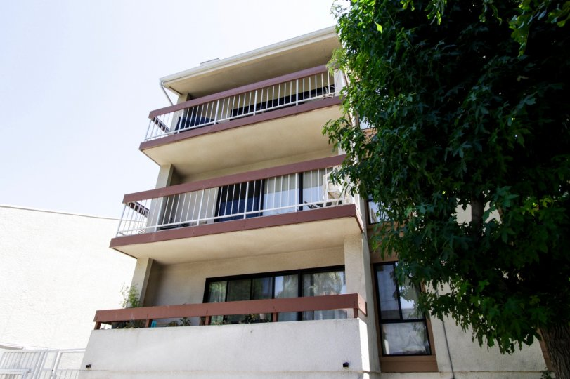 The balconies at 4542 Willis Ave in Sherman Oaks