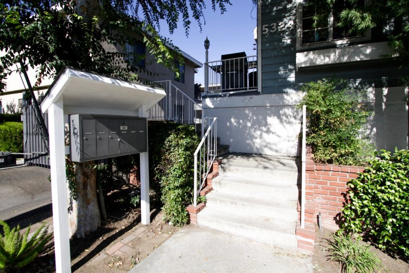 The stairs at 5324 Kester Ave in Sherman Oaks