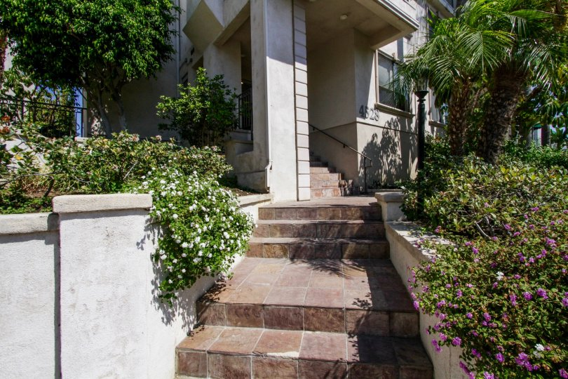 The stairs up to Colbath Townhomes in Sherman Oaks