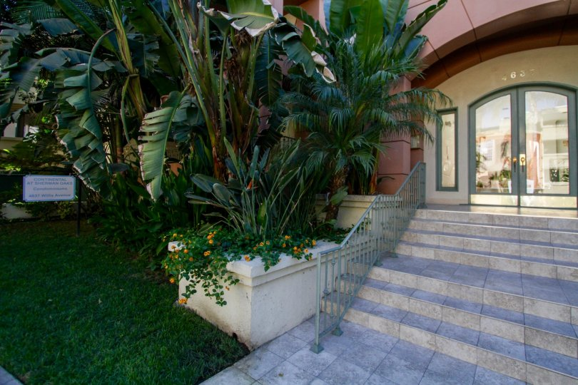 The stairs leading up to Continental at Sherman Oaks