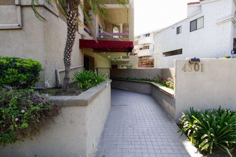 The walkway into Fulton Terrace in Sherman Oaks