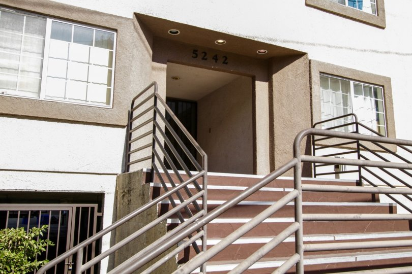 The staird leading up to Kester Court in Sherman Oaks