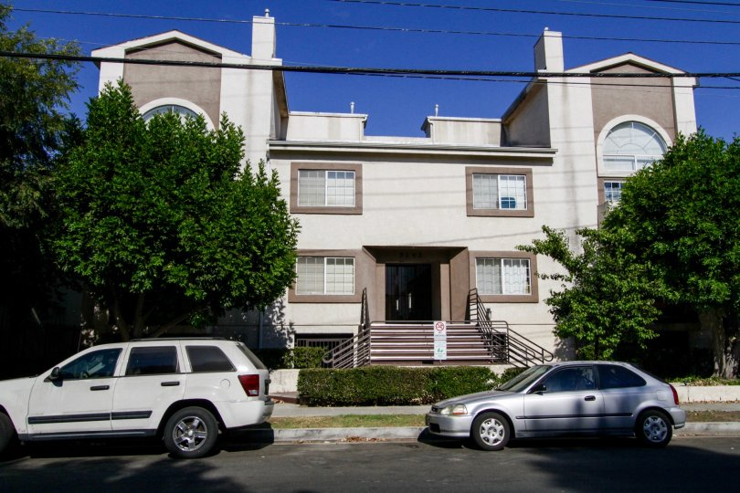 The building at Kester Court in Sherman Oaks
