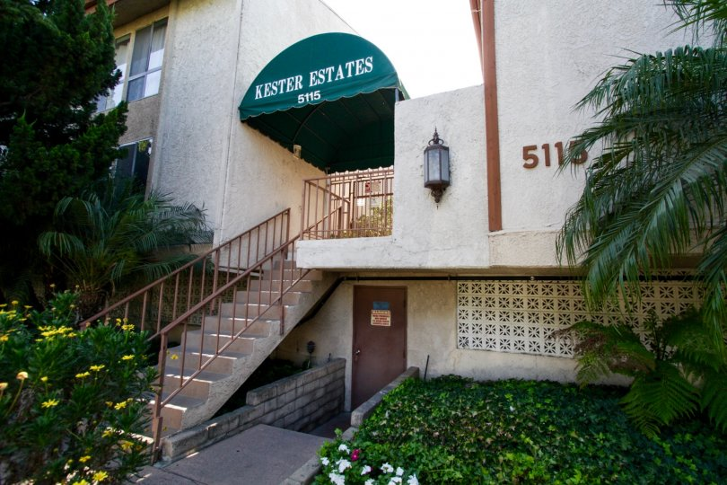 The entrance into Kester Estates in Sherman Oaks