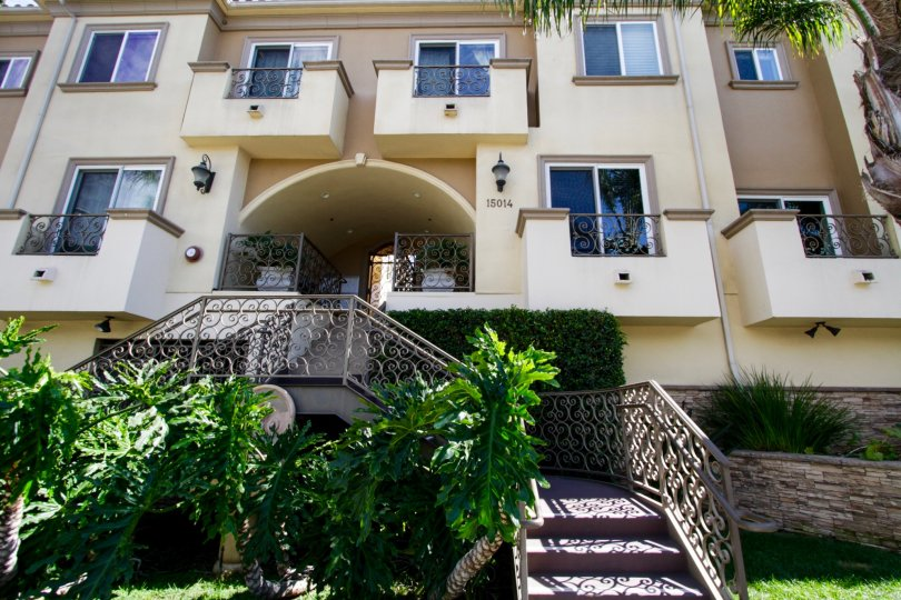The entryway into Magnolia Terrace in Sherman Oaks