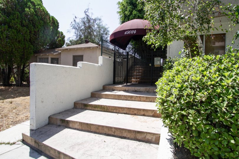The stairs leading up to Moorpark Vista in Sherman Oaks
