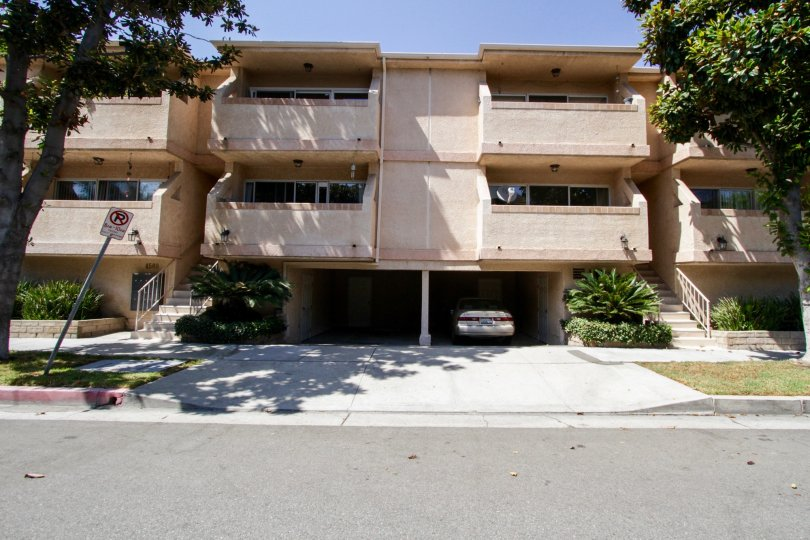 The parking for Murietta Terrace in Sherman Oaks