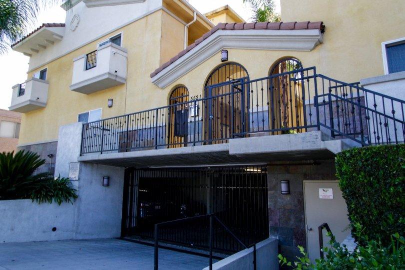 The balconies at Placita De Oro in Sherman Oaks
