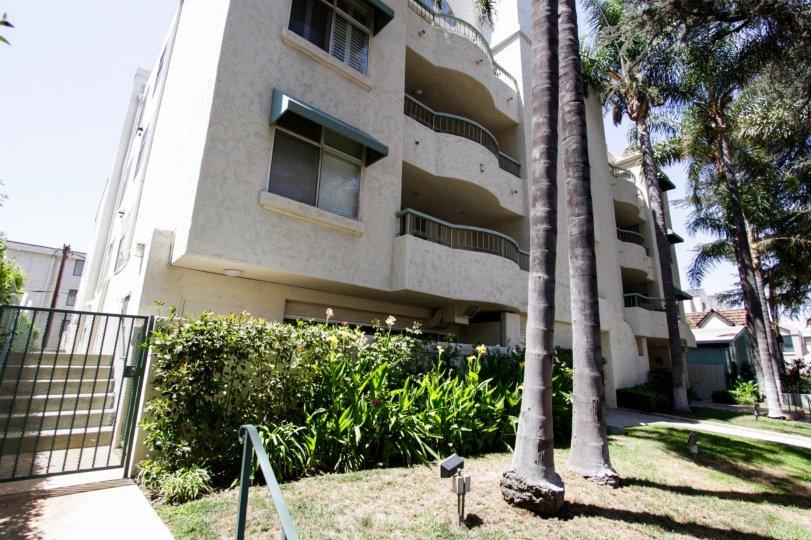 The balconies seen as San Tropez Villas in Sherman Oaks