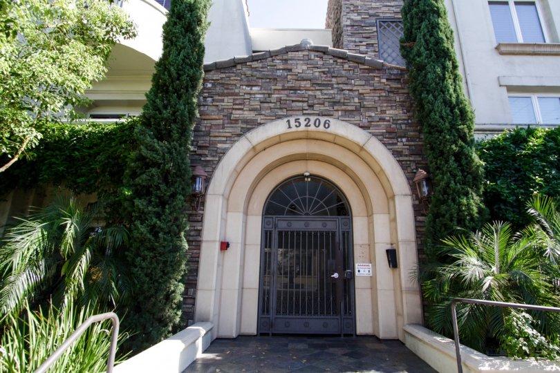 The entrance into Villa Trevi in Sherman Oaks