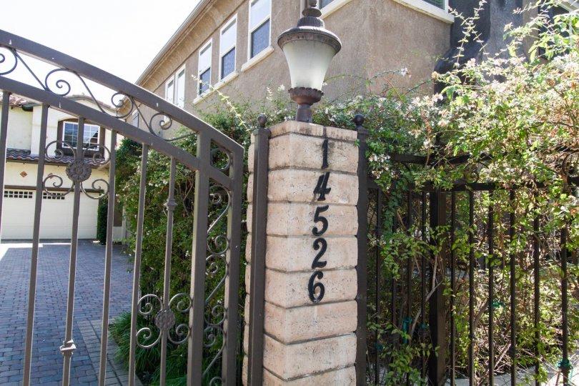 The address for Weddington Townhomes in Sherman Oaks