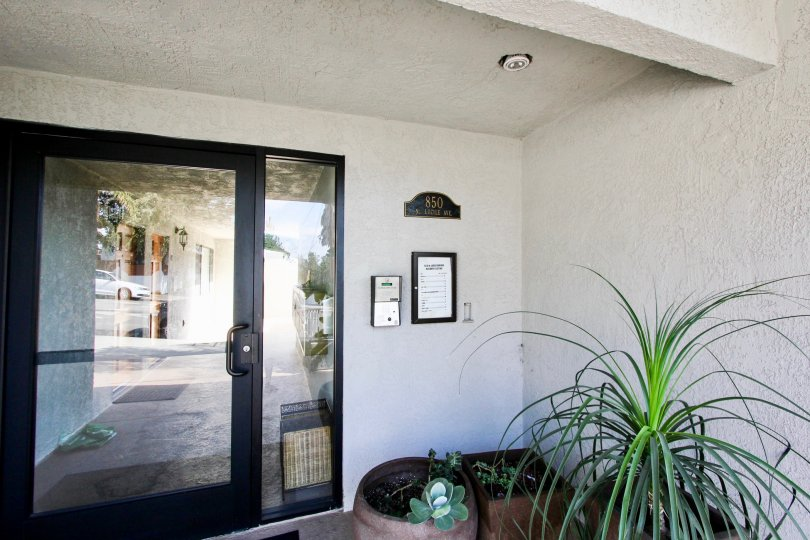 The entrance into Lucile Townhomes in Silver Lake, California