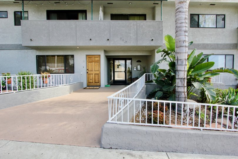 The walkway into Lucile Townhomes in Silver Lake, California