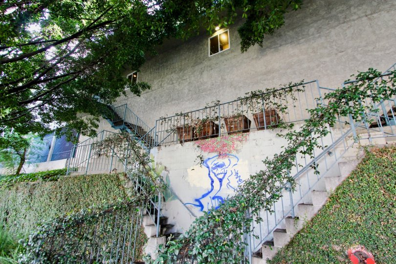 The stairs up to Rancho Los Feliz in Silver Lake, California