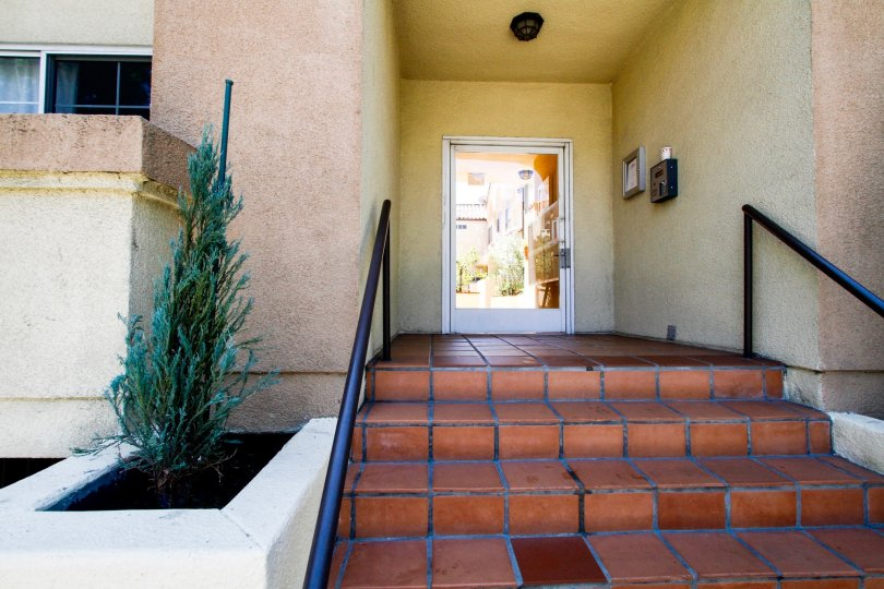 The stairs leading up to 11306 Moorpark in Studio City