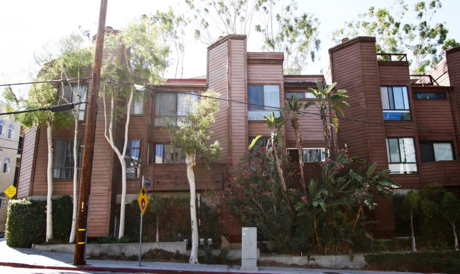 The building at 11901 Laurelwood Dr in Studio City