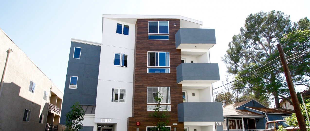 The balconies seen at 11912 Laurelwood Dr