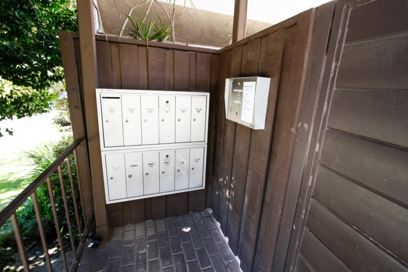 The mail area for residents at 4230 Whitsett Ave in Studio City
