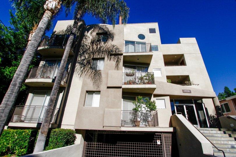 The balconies seen at 4236 Longridge Ave