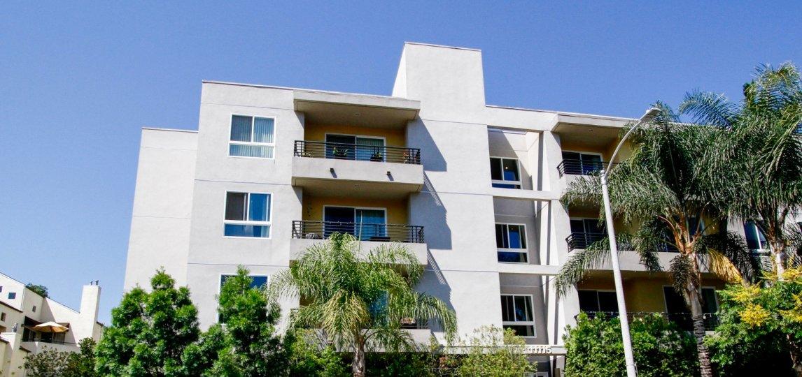The balconies seen at Acama Villas in Studio City