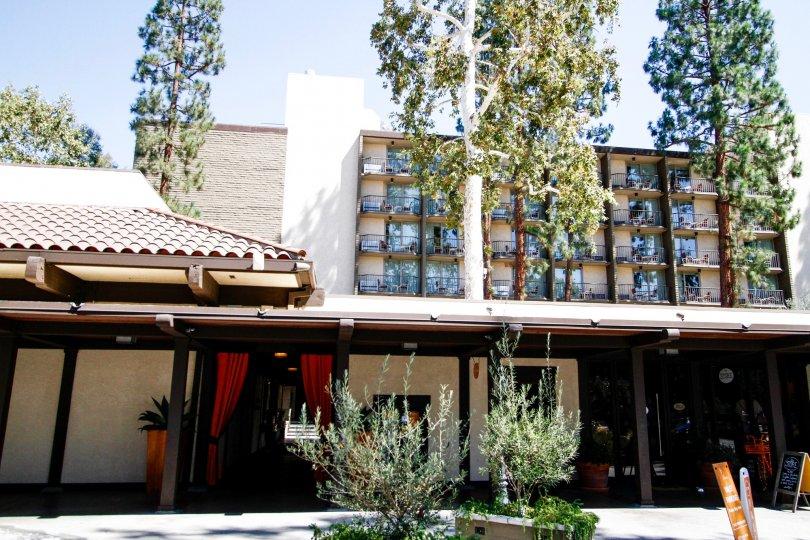 The entrance to Casa De Oro in Studio City