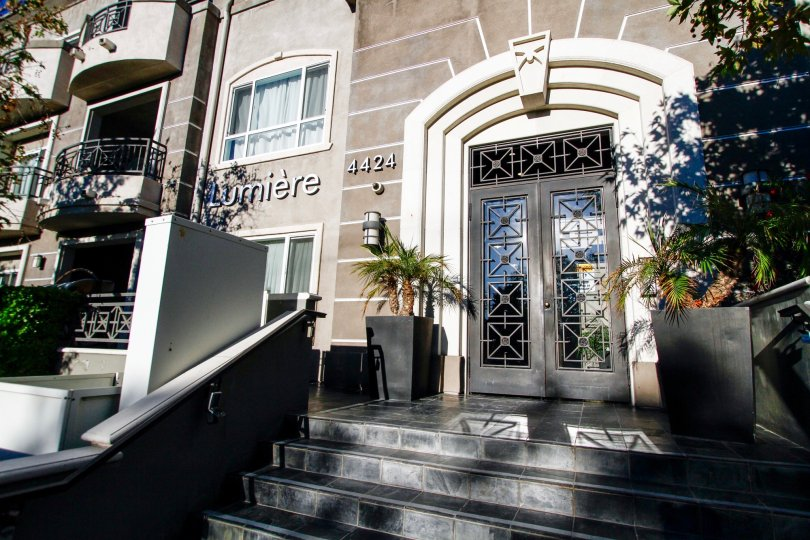The entrance into the Lumiere in Studio City