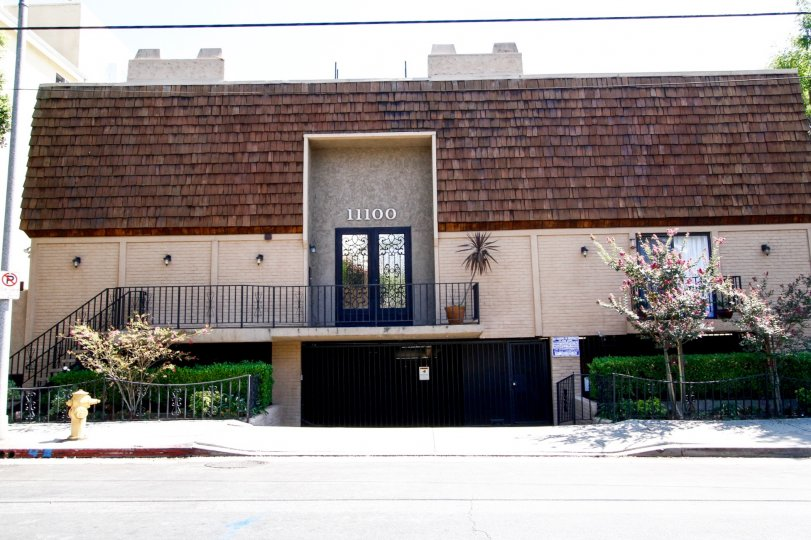 The entrance into Park Row Townhomes in Studio City
