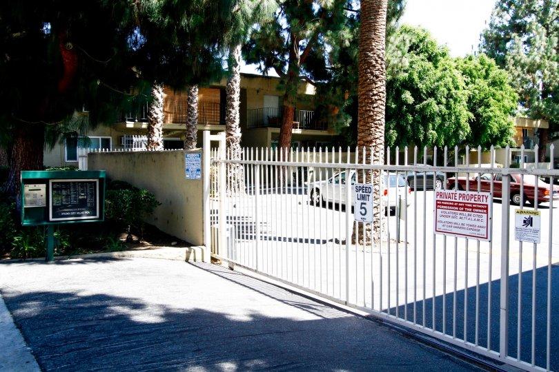 The parking for Studio City Villas in Studio City