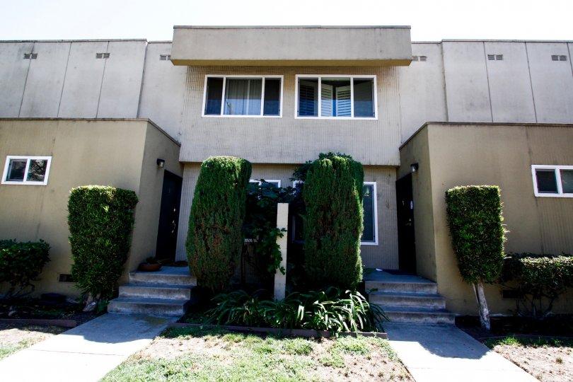 The unit entrances at Studio City Villas