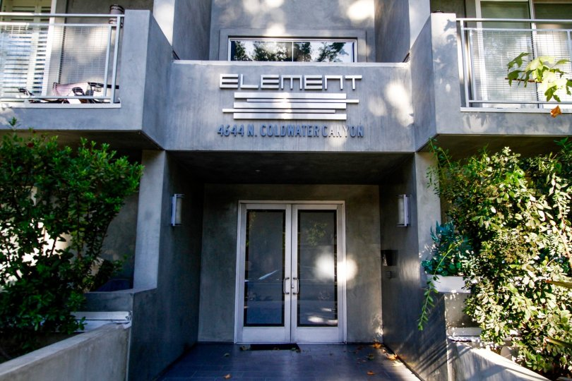 The entrance into The Element in Studio City