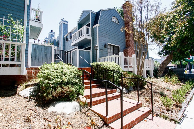 The stairs up to Tujunga Townhomes